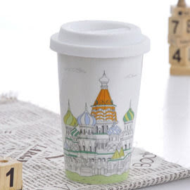 Bella House 我不是紙杯~城市風情系列 雙層陶瓷杯 俄羅斯 克里姆林宮