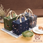 可折疊飯盒手提包保溫袋鋁箔加厚便當包上班族大容量【櫻田川島】
