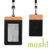 {原廠公司貨}Moshi Badge/ID Holder 證件套(瑪瑙黑)