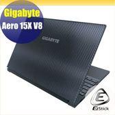 【Ezstick】GIGABYTE Aero 15X V8 黑色立體紋機身貼 (含上蓋貼、鍵盤週圍貼) DIY包膜