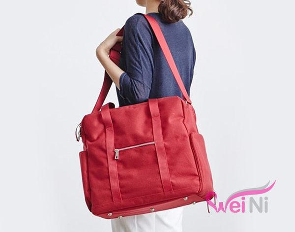 wei-ni 素色大容量帆布鞋子衣物收納袋 旅行收納包 旅遊整理袋 露營收納包 多功能萬用袋