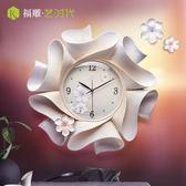 時鐘鐘表掛鐘客廳大氣鐘創意裝飾家用時鐘時尚靜音藝術掛表中國風輕奢 DF  維多