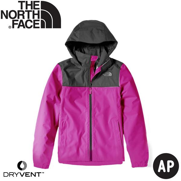 【The North Face 女 DryVent 防水外套《紫/黑》】49F8/衝鋒衣/防風外套/防水夾克
