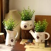 美式鄉村創意仿真花盆栽小擺件家居裝飾品室內擺設臥室桌面辦公室
