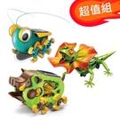 超值組【寶工 ProsKit 科學玩具】太陽能野豬+太陽能大眼蟲+AI智能傘蜥蜴GE-682+GE-683+GE-892