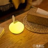 創意可愛節能硅膠小夜燈夢幻拍拍臥室寶寶喂奶床頭燈usb充電卡通igo   電購3C