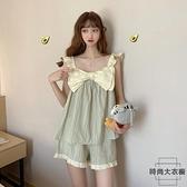 睡衣女夏季兩件套網紅爆款甜美可愛少女家居服套裝【時尚大衣櫥】