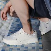 EVA塑膠防水板鞋雨鞋男防臭鏤空洞洞鞋