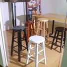 吧檯椅 實木吧臺椅酒吧高腳凳簡約奶茶店高椅子家用現代北歐手機店高凳子【快速出貨八折鉅惠】