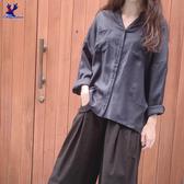 【春夏新品】American Bluedeer - 垂墜V領襯衫(特價) 春夏新款