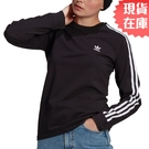 【現貨】Adidas ADICOLOR CLASSICS 女裝 長袖 薄長T 三葉草 黑【運動世界】GN2911