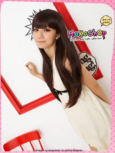*MoKoShOp*阿妹A-mei最新髮型齊瀏海微彎長髮全頂假髮【LYTFF】