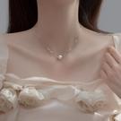 項鍊 珍珠項鍊2021年新款女小眾輕奢冷淡風潮頸鍊配飾高級感鎖骨鍊純銀 晶彩 99免運