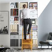 折疊梯 簡易實木樓梯椅子多功能家用室內登高梯子踏步凳子折疊兩用兩步梯YXS 夢娜麗莎精品館