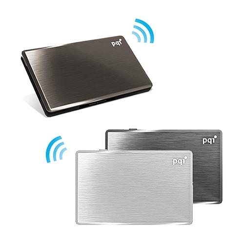 [富廉網]【PQI】Air Drive 無線Wifi讀卡機 A100 16G 黑/銀