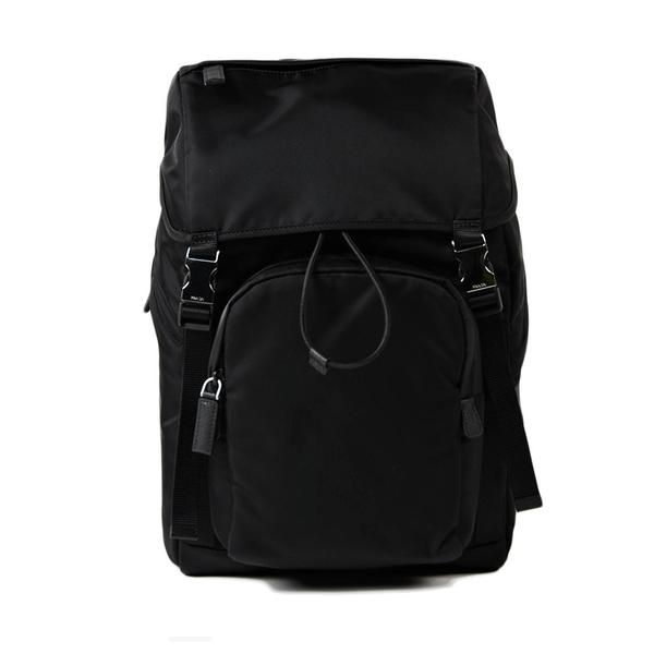 【台中米蘭站】全新品 PRADA 品牌經典素面尼龍後背包 (2VZ135-黑)