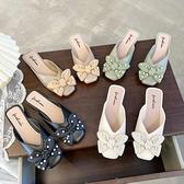穆勒鞋包頭半拖鞋女夏時尚外穿穆勒蝴蝶結涼拖鞋【少女顏究院】