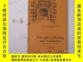二手書博民逛書店民國:Principles罕見of Heating and Ventilation【USA】 關於房屋建築結構等奇