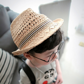 Qmishop 男童女童遮陽帽出遊帽超時尚鏤空兒童【QB016】