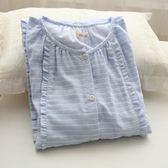 睡衣(睡裙)-純棉經典條紋舒適透氣女居家服2色73ok34【時尚巴黎】