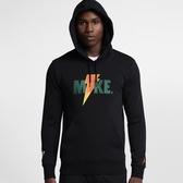 ISNEAKERS NIKE Jordan Sportswear Like Mike 開特力 LOGO連帽T恤 AJ1174-010 黑色  秋冬