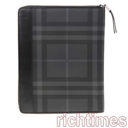 【裕代 BURBERRY 倫敦】灰黑iPad皮套 BB0C0343