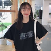 黑色短袖t恤女2020新款潮ins韓版寬鬆bf原宿港風簡約少女感上衣夏 店慶降價