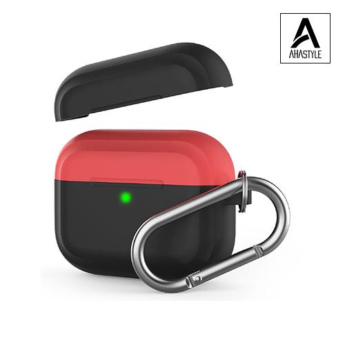 AHAstyle AirPods Pro 撞色矽膠保護套(掛勾) 蘋果 抗噪耳機 耳機保護套 保護殼 撞色