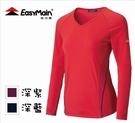 丹大戶外 衣力美【EasyMain】女細格紋排汗長袖T恤 TE20078三色
