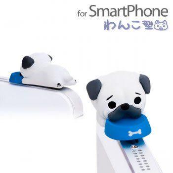 ❤Hamee 日本正版 NicoNico Puppy系列小狗防塵耳機塞 小狗耳機塞 巴哥 [5-601465]
