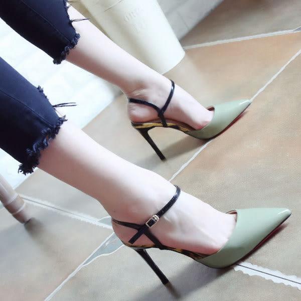 尖頭高跟涼鞋 女顯瘦羅馬高跟鞋【多多鞋包店】z1044
