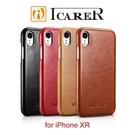 【默肯國際】ICARER 復古曲風 iPhone XR (6.1吋) 磁吸側掀 手工真皮皮套 保護殼 手機殼 側翻皮套