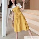 夏裝2020新款韓版裙子收腰顯瘦條紋t恤...