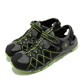 Merrell 戶外鞋 Hydro Quench 黑 綠 中童鞋 大童鞋 女鞋 運動鞋 越野 登山 涼拖鞋【ACS】 MK263196