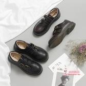 娃娃鞋 軟妹娃娃鞋女ins小皮鞋春復古日系學院風圓頭平底單鞋學生 2色34-40