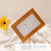 磁性鐵實木簡約diy標本小相框擺台加沖洗照片框定制印字logo相冊 夏季新品