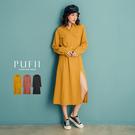 限量現貨★PUFII-洋裝 小開衩襯衫造...