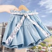 女童夏裝牛仔短褲新款洋氣童裝中大童裙褲兒童薄款熱褲外穿快速出貨
