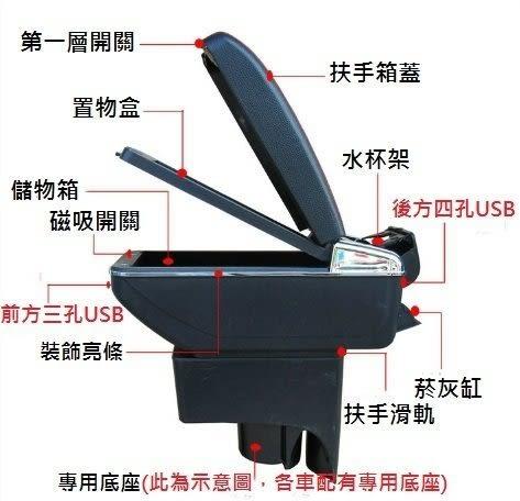 【車王小舖】日產 Nissan LIVINA中央扶手 LIVINA扶手 LIVINA扶手箱 時尚款 升級版 帶7孔USB