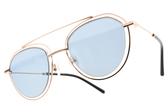 CARIN 太陽眼鏡 EDIE C1 (玫瑰金-藍鏡片) 韓星秀智代言 簍空雙槓造型款 墨鏡 # 金橘眼鏡