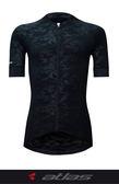 【亞特力士ATLAS】 男短袖車衣-冷黑 30℃~38℃ JF-121-B 炫光迷彩黑