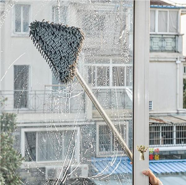 拖把 三角除塵迷你萬能小拖把擦頂家用一拖凈輕便擦刮牆天花板清潔T