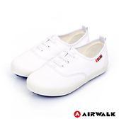 【AIRWALK】百搭經典帆布鞋-童款-白