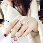 情侶戒指 食指鈦鋼戒指女不掉色日韓玫瑰金潮人學生個性大氣時尚指環女 俏腳丫