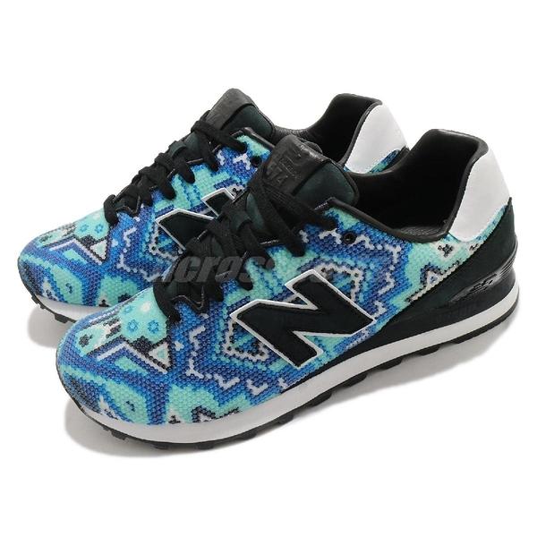 【三折特賣】New balance 休閒鞋 574 X Ricardo Seco NB 民俗風 藍 黑 女鞋 紐巴倫 【ACS】 UL574RS3D