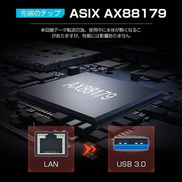TROPRO【日本代購】有線網路適配器LAN 適配器 1000Mbps USB3.0 Giga RJ45