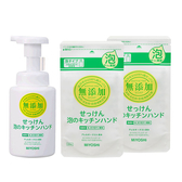 MIYOSHI 無添加 廚房泡沫洗手3入組(廚房洗手乳1瓶+2補充包)