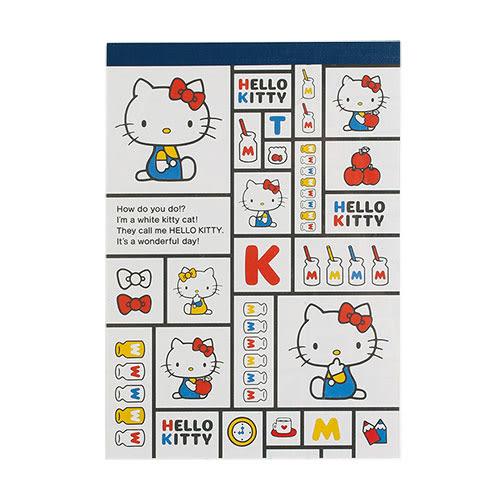 《Sanrio》HELLO KITTY復古系列A6便條紙(方格小物) 38474