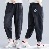 適合胯大腿根粗的褲子顯瘦大碼文藝複古水洗牛仔褲寬鬆百搭哈倫褲