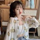 款雪紡襯衫女夏季防曬衣超仙的寬鬆空調衫潮